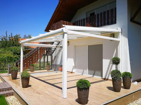 4 Seasons Oázis üvegtető beépített árnyékolóval